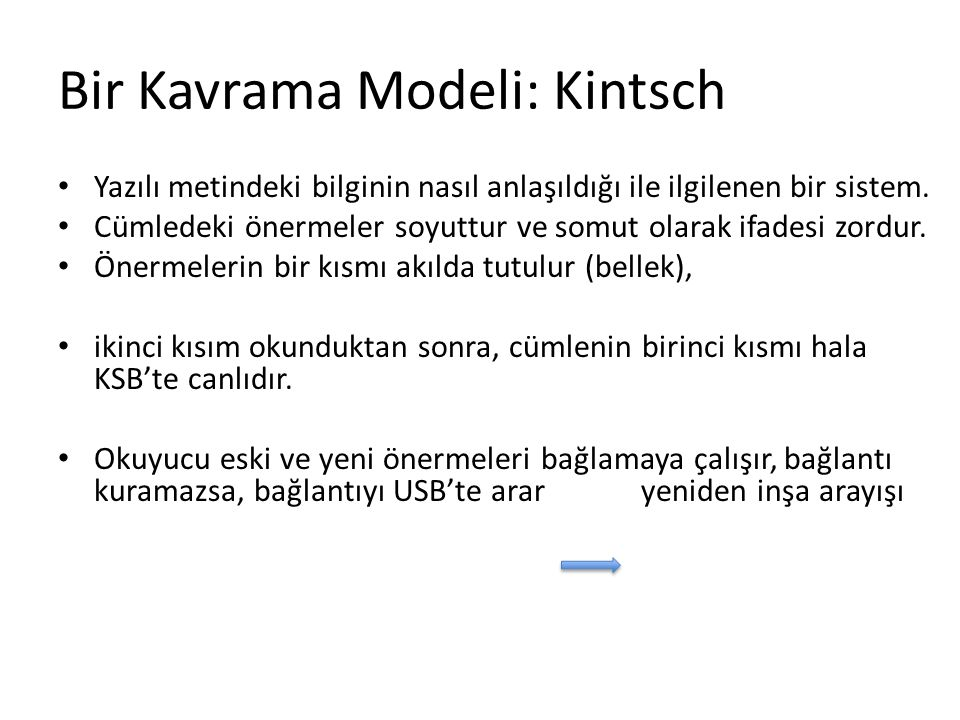 Bir Kavrama Modeli: Kintsch
