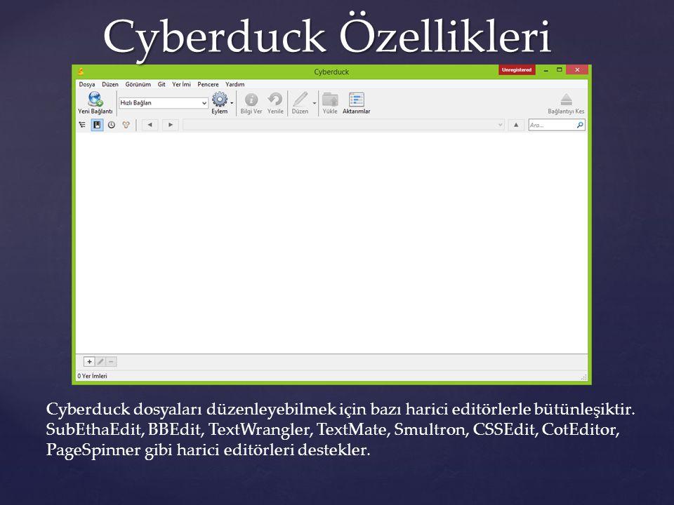 Cyberduck Özellikleri