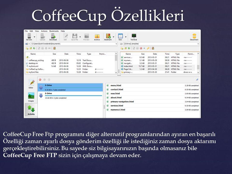 CoffeeCup Özellikleri