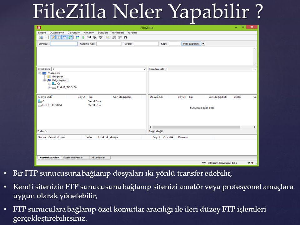 FileZilla Neler Yapabilir