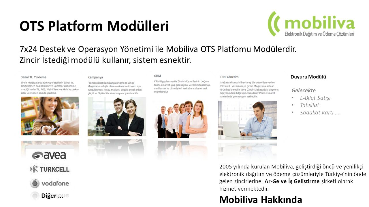 OTS Platform Modülleri