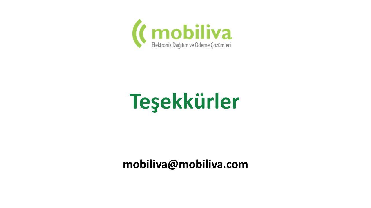 Teşekkürler mobiliva@mobiliva.com