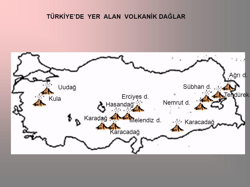 TÜRKİYE'DE YER ALAN VOLKANİK DAĞLAR