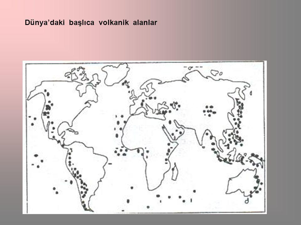 Dünya'daki başlıca volkanik alanlar