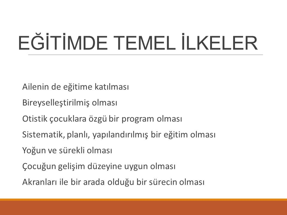 EĞİTİMDE TEMEL İLKELER