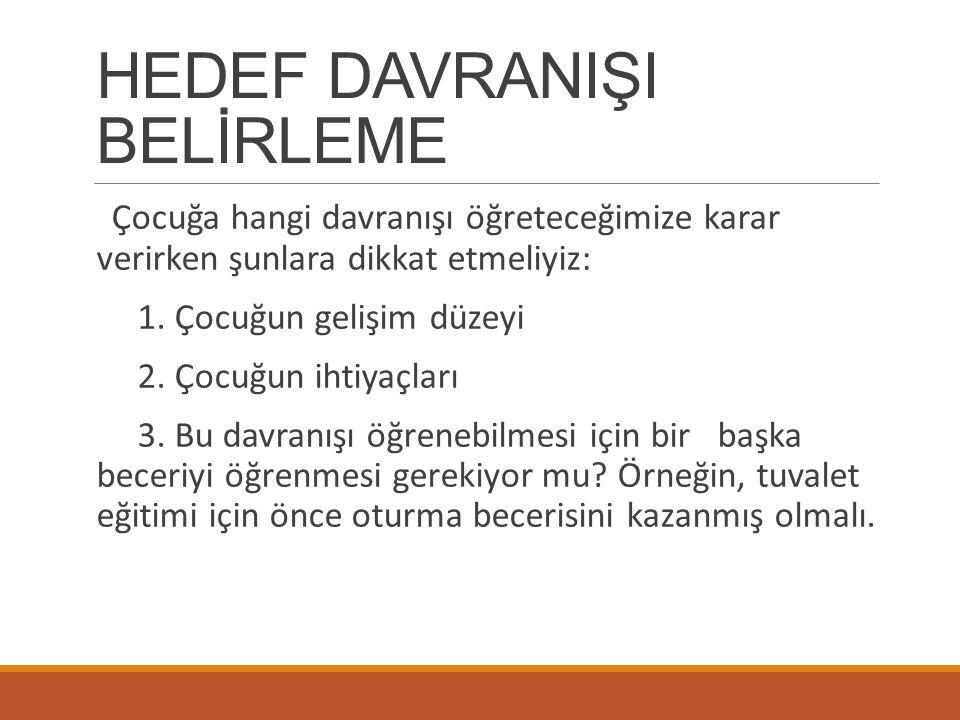 HEDEF DAVRANIŞI BELİRLEME