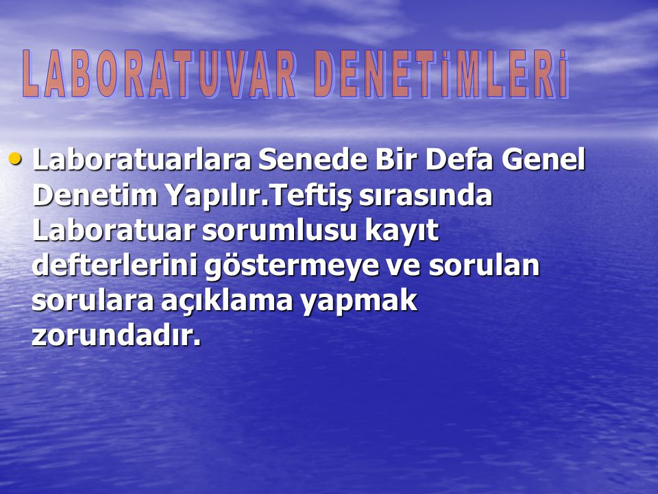 LABORATUVAR DENETİMLERİ