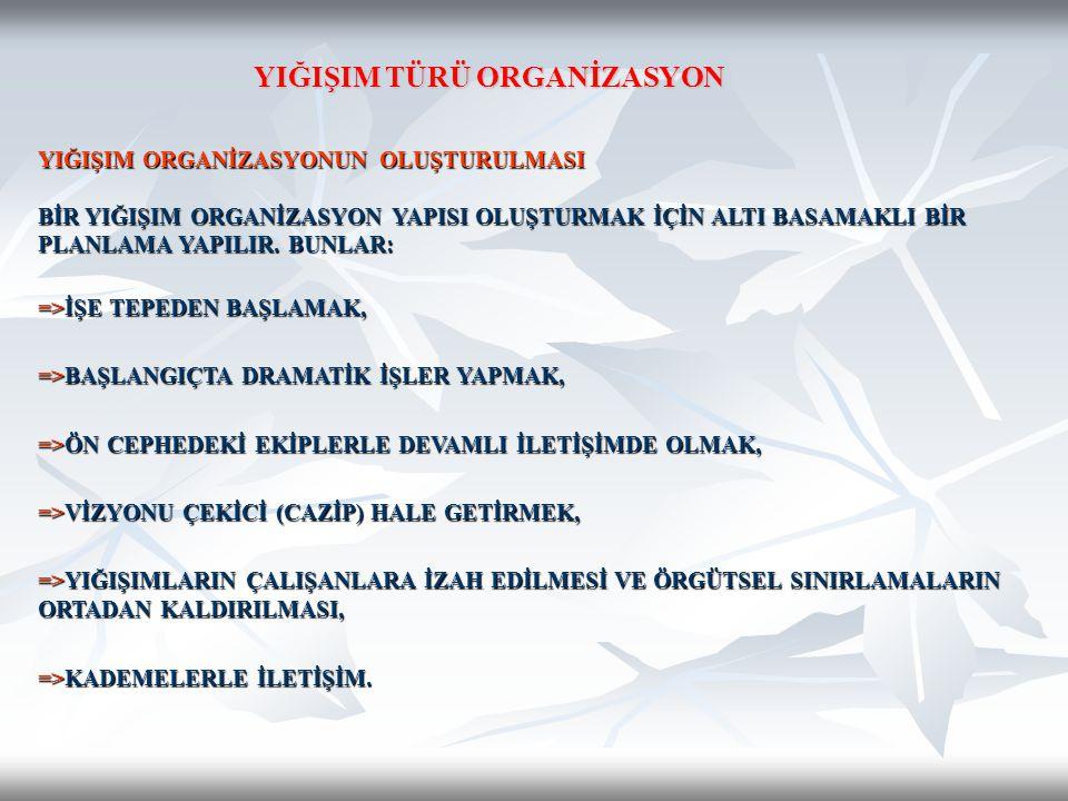 YIĞIŞIM TÜRÜ ORGANİZASYON