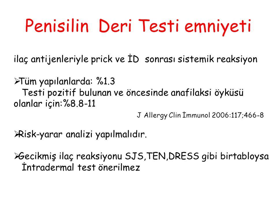 Penisilin Deri Testi emniyeti