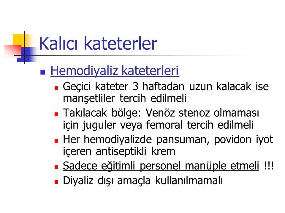 Kalıcı kateterler Hemodiyaliz kateterleri