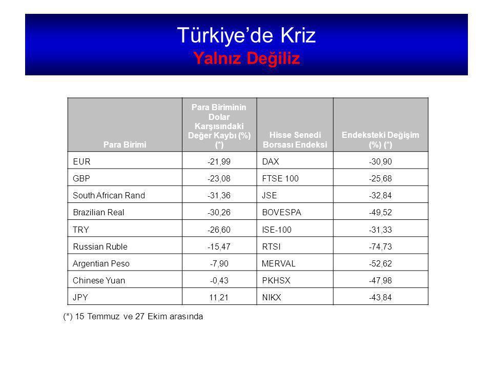 Türkiye'de Kriz Yalnız Değiliz