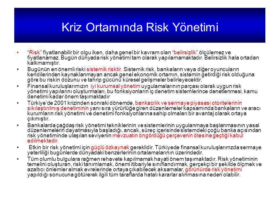 Kriz Ortamında Risk Yönetimi