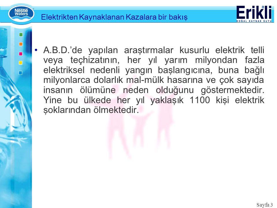 Elektrikten Kaynaklanan Kazalara bir bakış