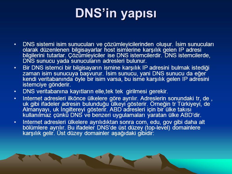 DNS'in yapısı