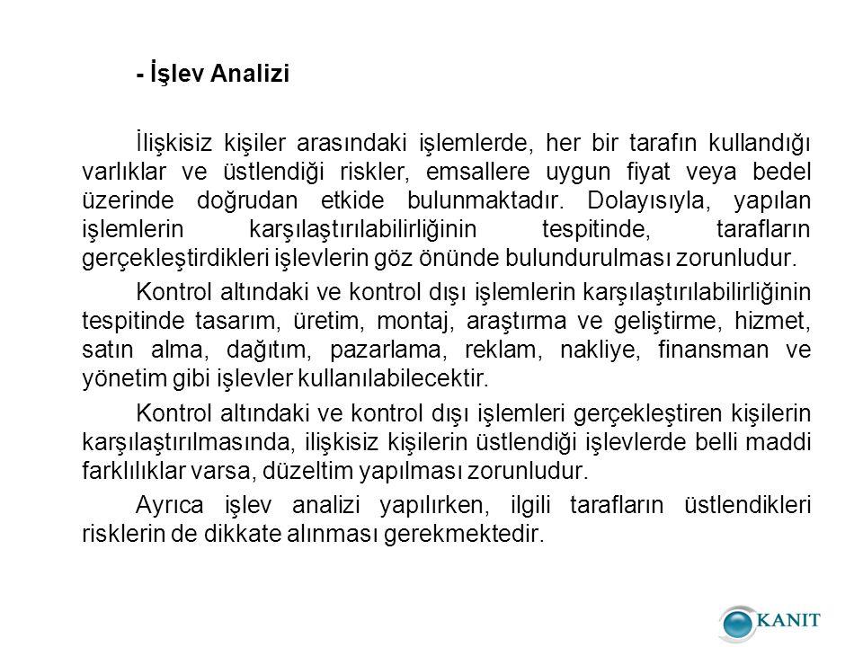 - İşlev Analizi