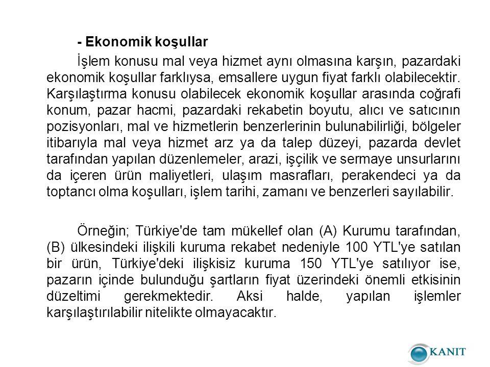 - Ekonomik koşullar