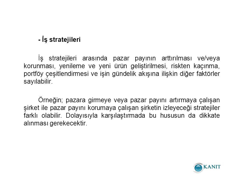 - İş stratejileri