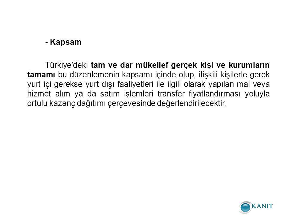 - Kapsam