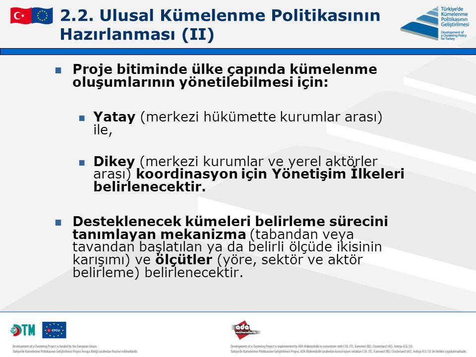 2.2. Ulusal Kümelenme Politikasının Hazırlanması (II)