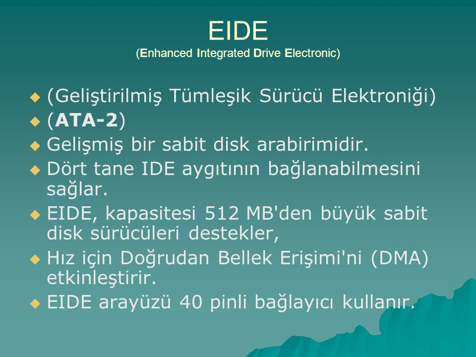 EIDE (Enhanced Integrated Drive Electronic)