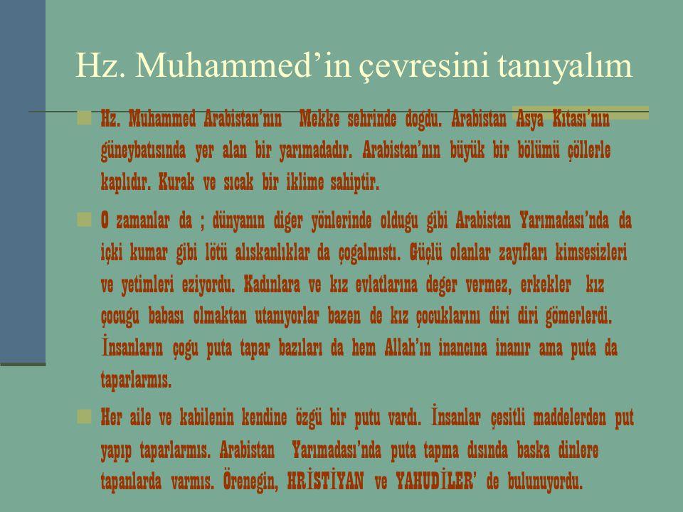 Hz. Muhammed'in çevresini tanıyalım