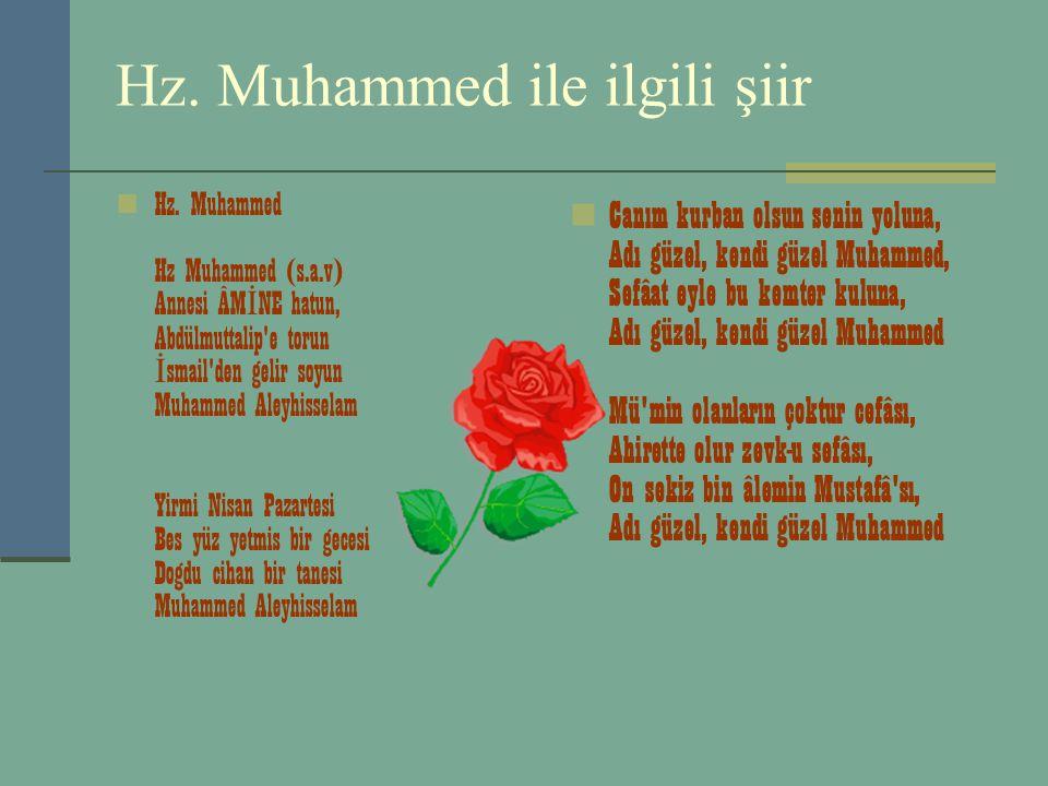 Hz. Muhammed ile ilgili şiir
