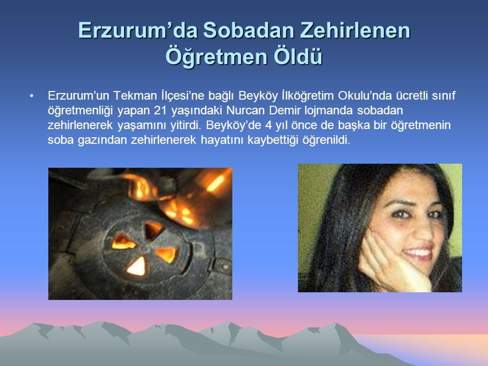Erzurum'da Sobadan Zehirlenen Öğretmen Öldü