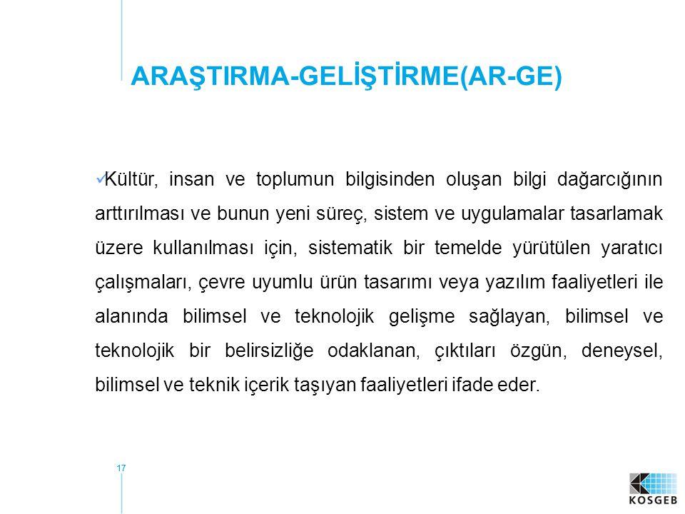ARAŞTIRMA-GELİŞTİRME(AR-GE)