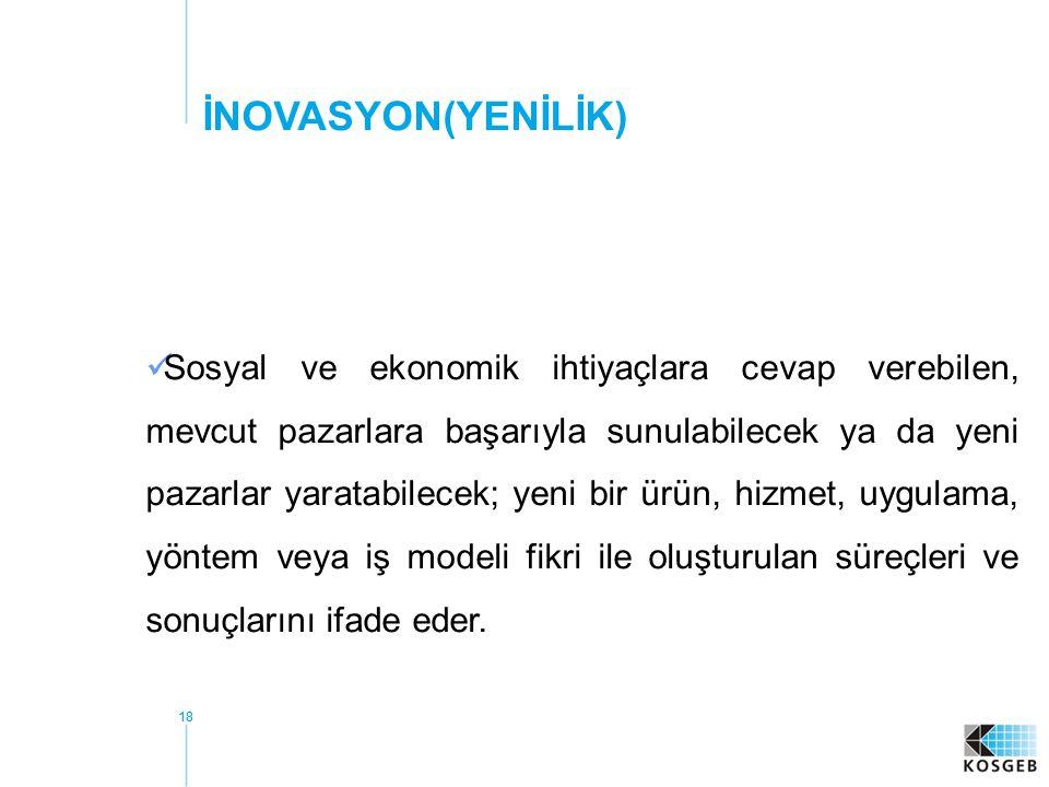 İNOVASYON(YENİLİK)