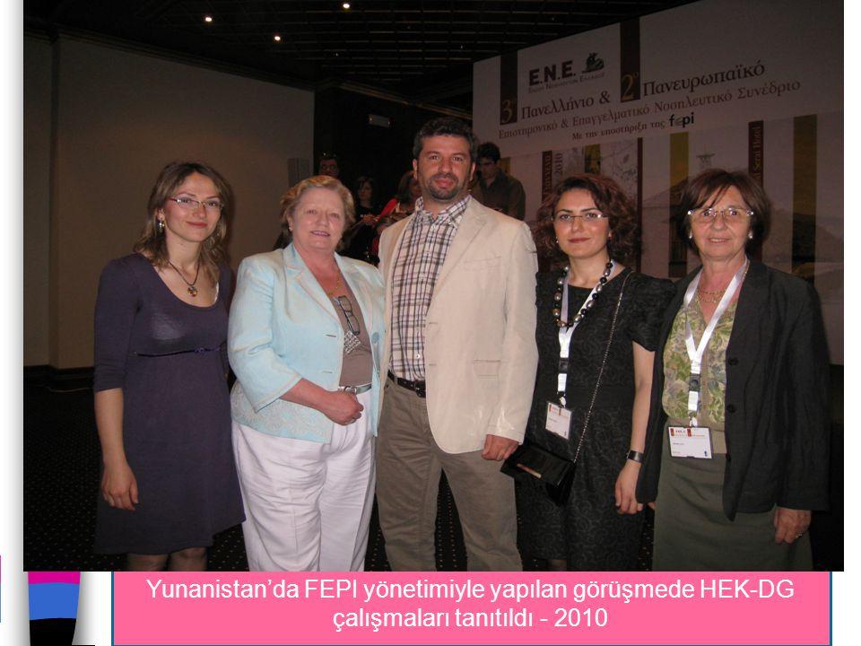 Yunanistan'da FEPI yönetimiyle yapılan görüşmede HEK-DG çalışmaları tanıtıldı - 2010