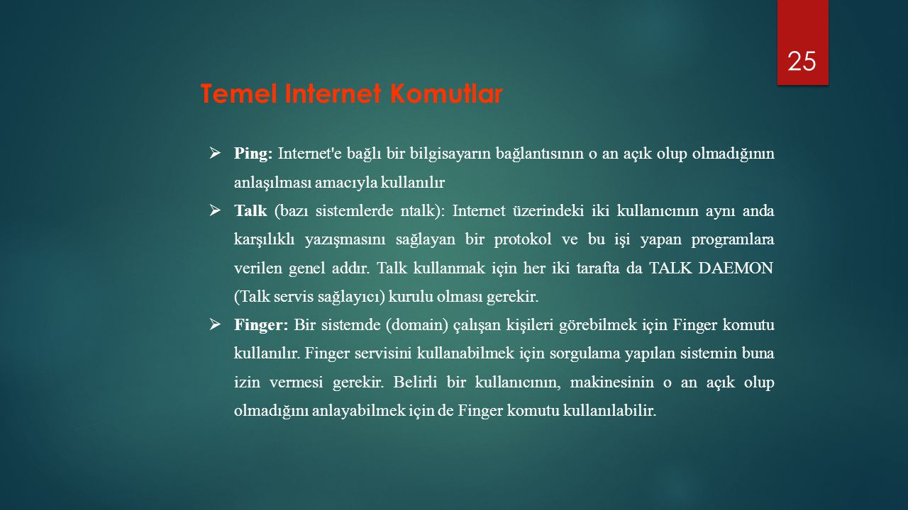 Temel Internet Komutlar