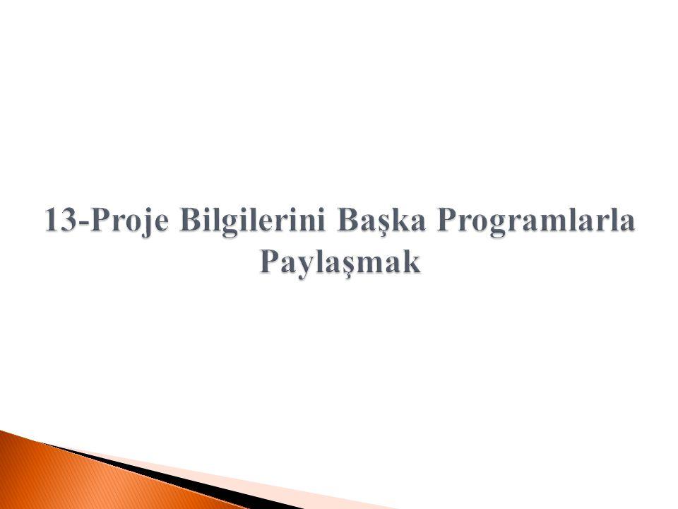 13-Proje Bilgilerini Başka Programlarla Paylaşmak