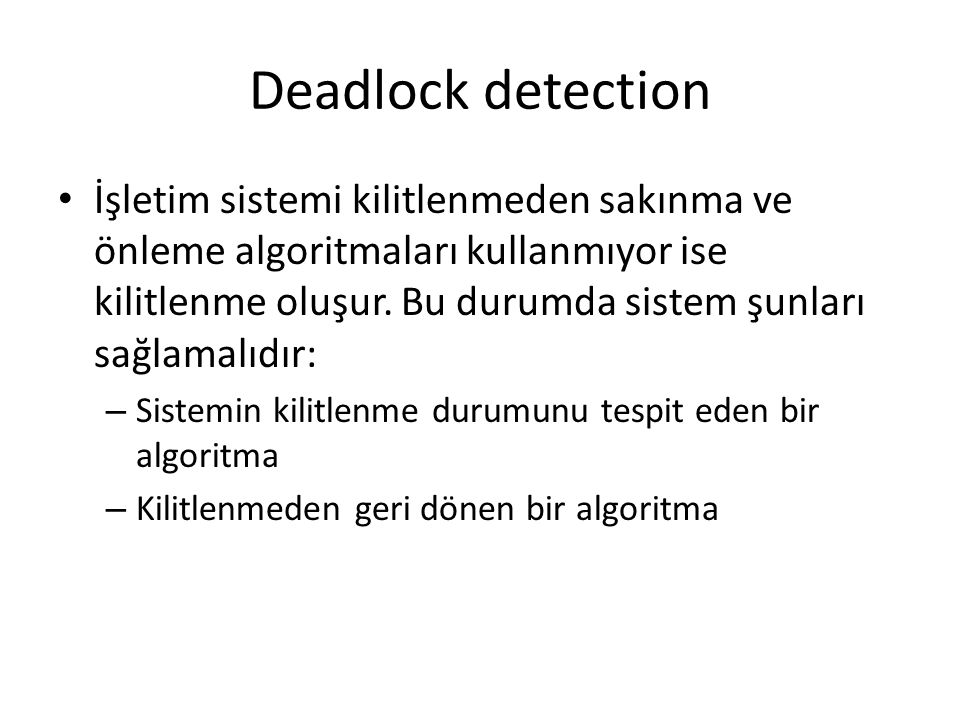 Deadlock detection