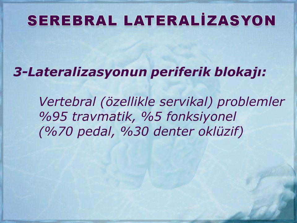3-Lateralizasyonun periferik blokajı: