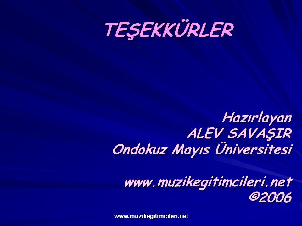 TEŞEKKÜRLER ALEV SAVAŞIR Ondokuz Mayıs Üniversitesi