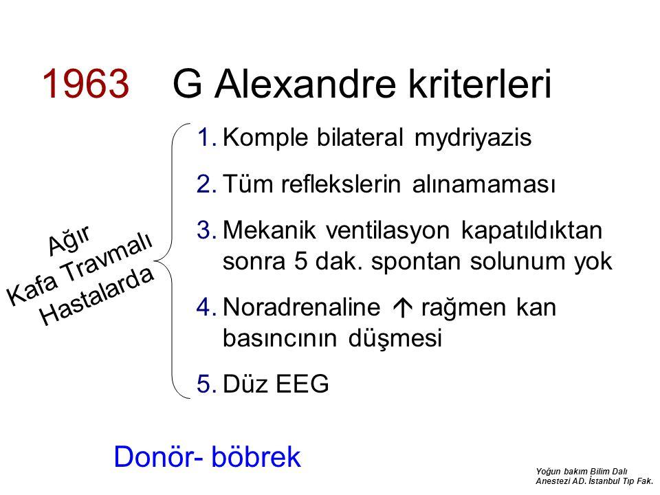 1963 G Alexandre kriterleri