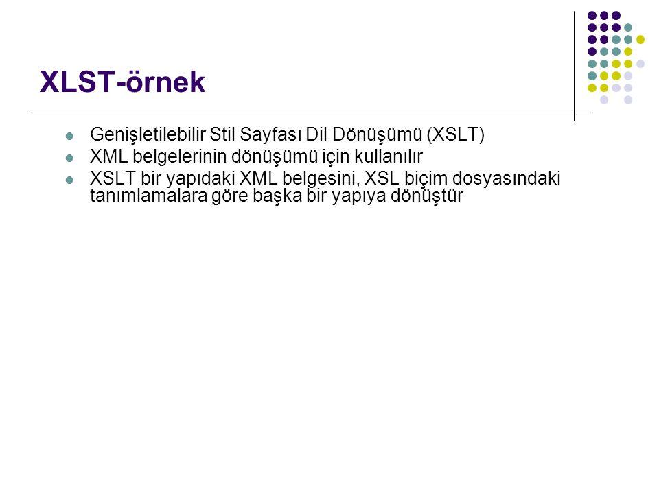 XLST-örnek Genişletilebilir Stil Sayfası Dil Dönüşümü (XSLT)