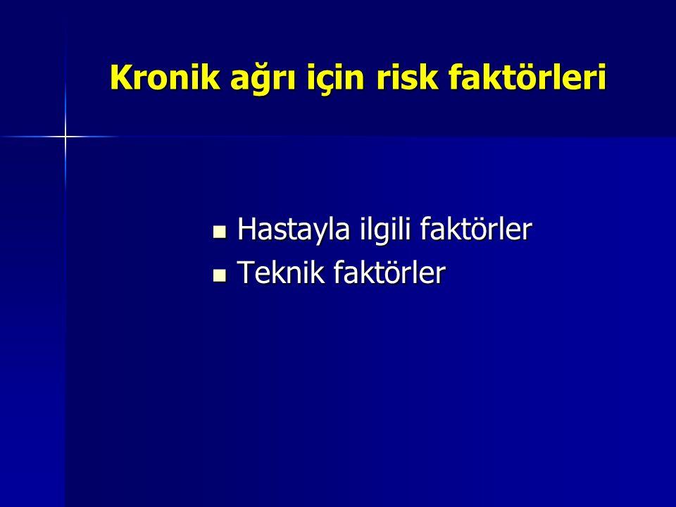 Kronik ağrı için risk faktörleri