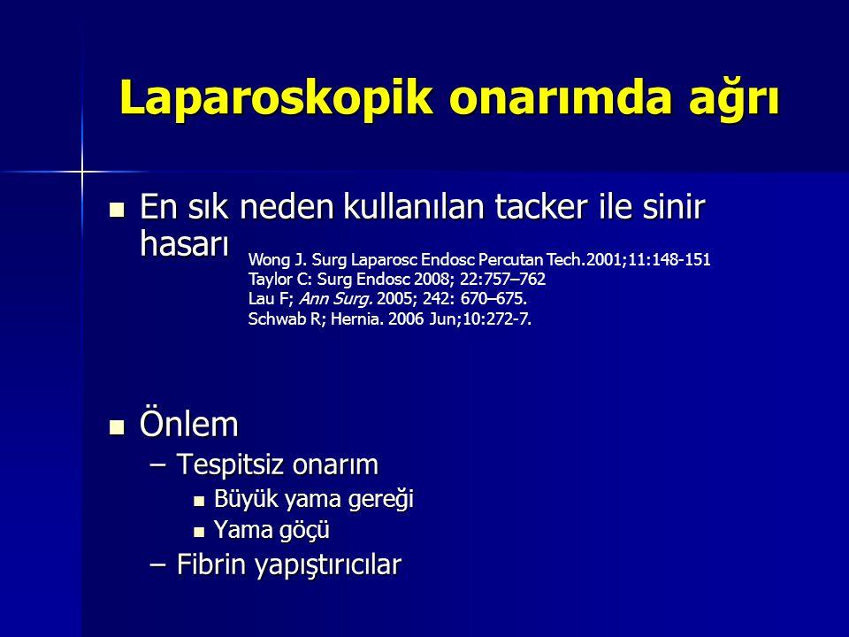 Laparoskopik onarımda ağrı