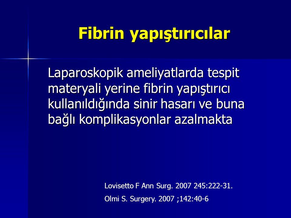 Fibrin yapıştırıcılar