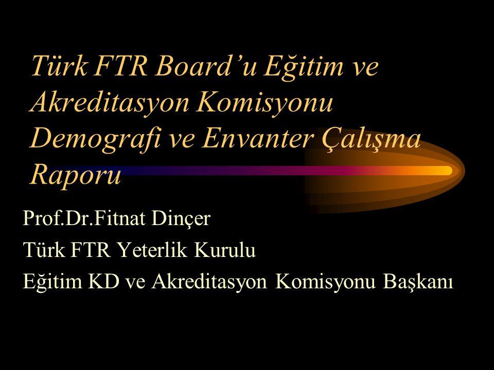 Türk FTR Board'u Eğitim ve Akreditasyon Komisyonu Demografi ve Envanter Çalışma Raporu