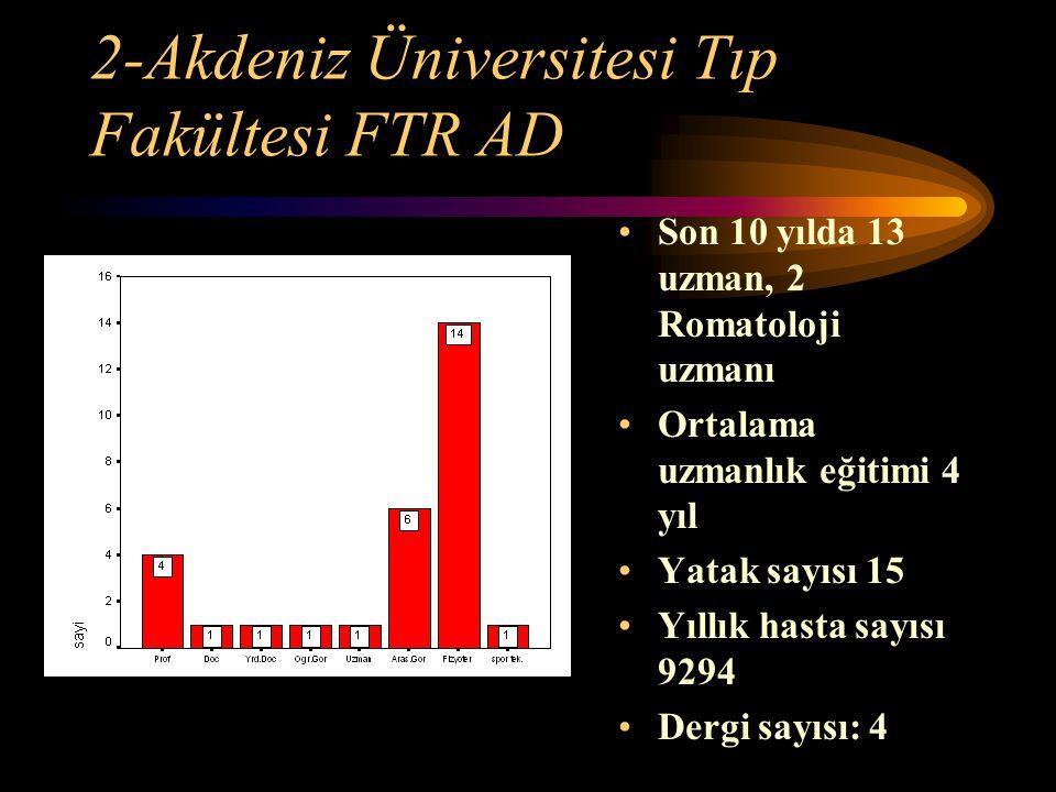 2-Akdeniz Üniversitesi Tıp Fakültesi FTR AD