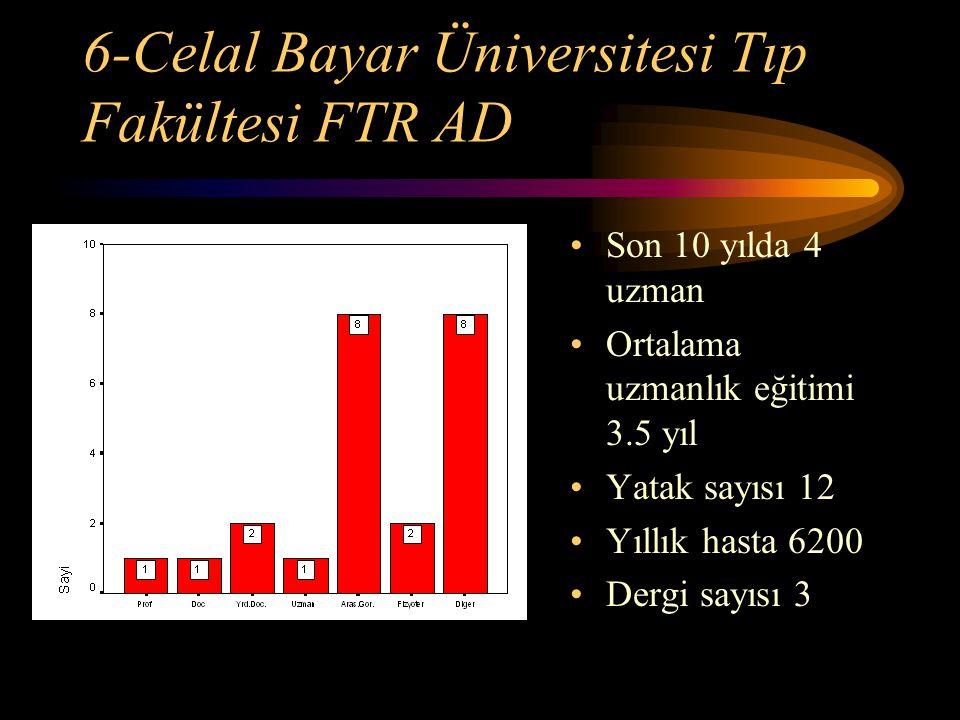 6-Celal Bayar Üniversitesi Tıp Fakültesi FTR AD