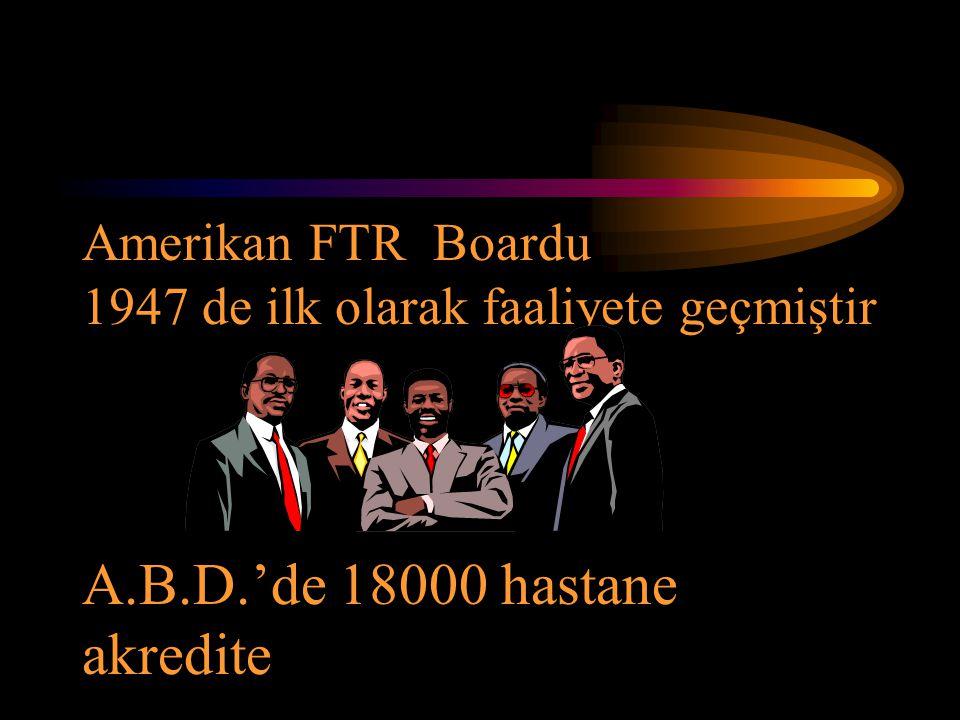 Amerikan FTR Boardu 1947 de ilk olarak faaliyete geçmiştir A. B. D