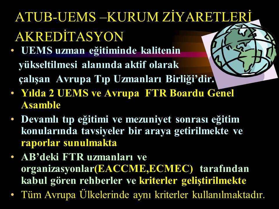 ATUB-UEMS –KURUM ZİYARETLERİ AKREDİTASYON