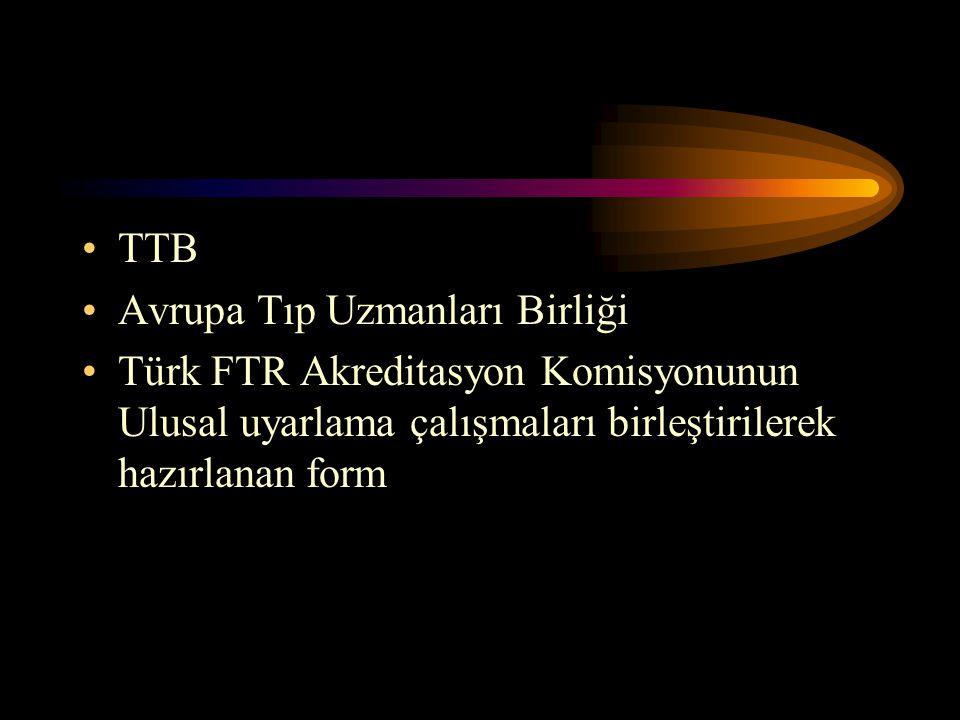 TTB Avrupa Tıp Uzmanları Birliği.