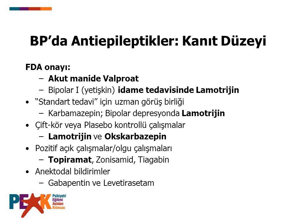 BP'da Antiepileptikler: Kanıt Düzeyi
