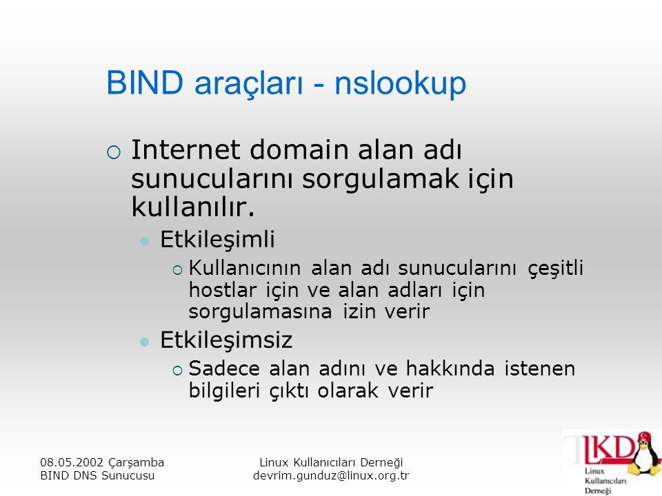 BIND araçları - nslookup
