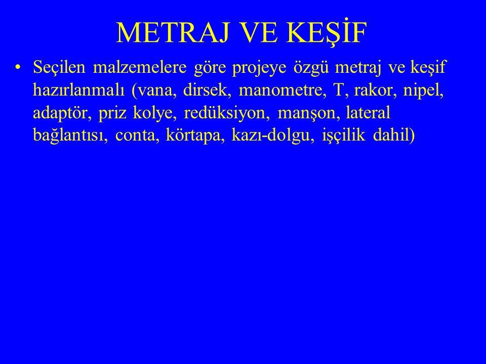 METRAJ VE KEŞİF