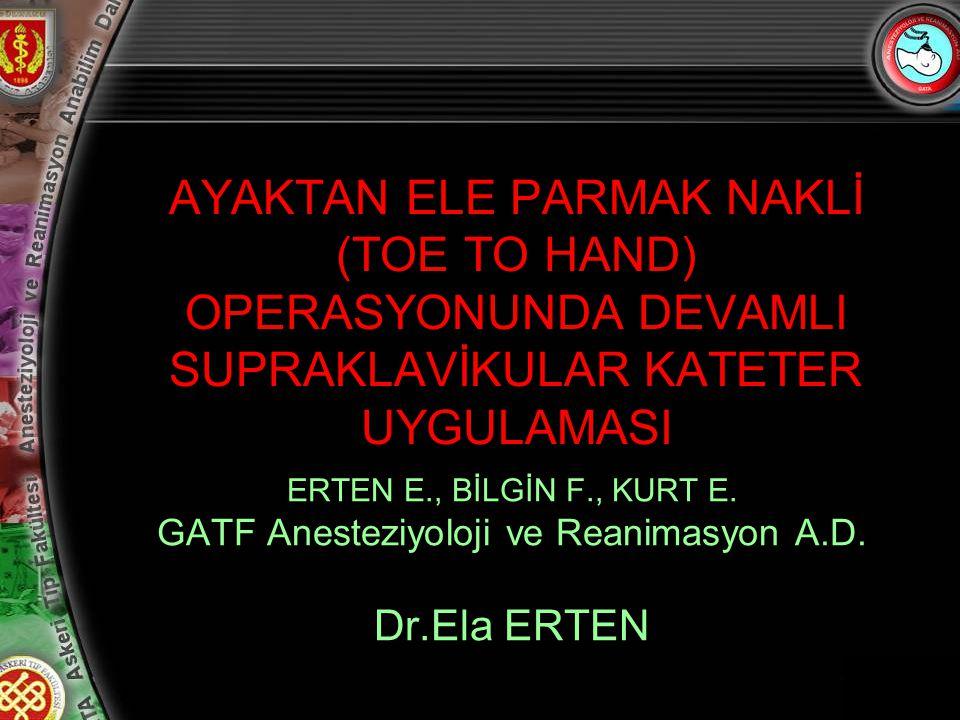GATF Anesteziyoloji ve Reanimasyon A.D.